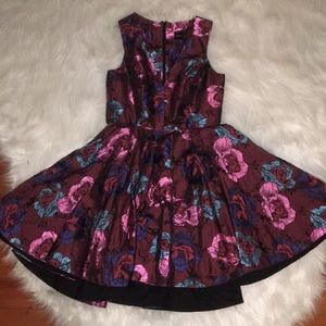 Beautiful floral wine colored ASOS dress